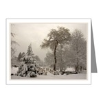 Winter Wonderland Landscape Photo Imprinted Gifts, Cards & Prints Snowy Winter Landscape Cards  & Gifts Winter Bridge Landscape Cards & Gifts for Men Women & Kids Beautiful Winter Landscape Gifts E-mail to customize
